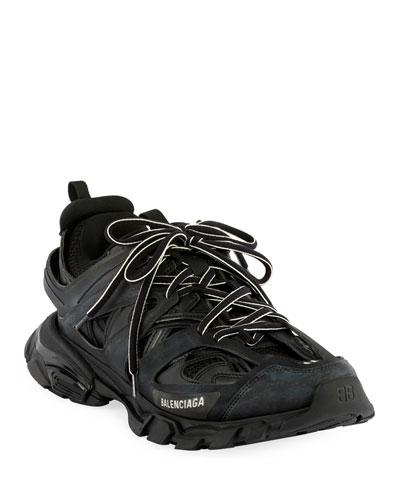 Men's Track Running Sneakers, Black