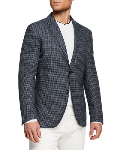 Men's Microcheck Blazer