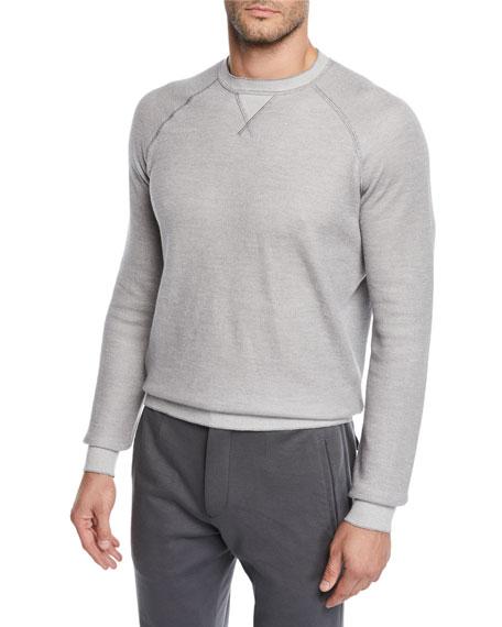Ermenegildo Zegna Men's Cotton/Cashmere-Blend Raglan Crewneck Sweater