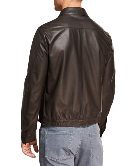 2d3559603b Men's Ultra Light Leather Shirt Jacket