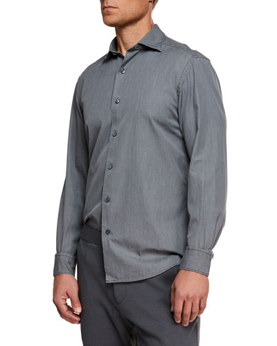 Men's Denim Sport Shirt