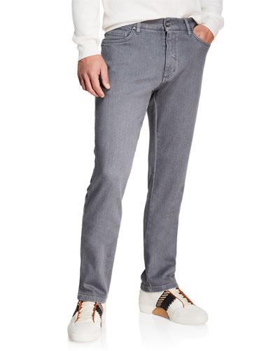 Men's Slim-Leg Stretch-Denim Jeans
