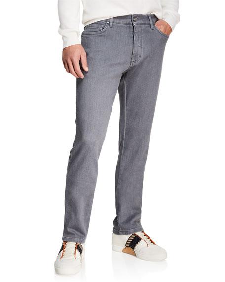Ermenegildo Zegna Men's Slim-Leg Stretch-Denim Jeans