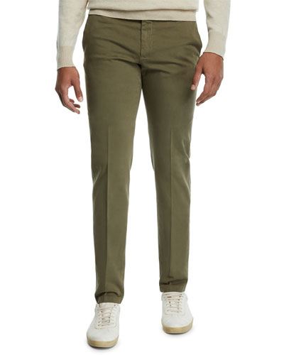 Men's Flat-Front Slim-Fit Pants