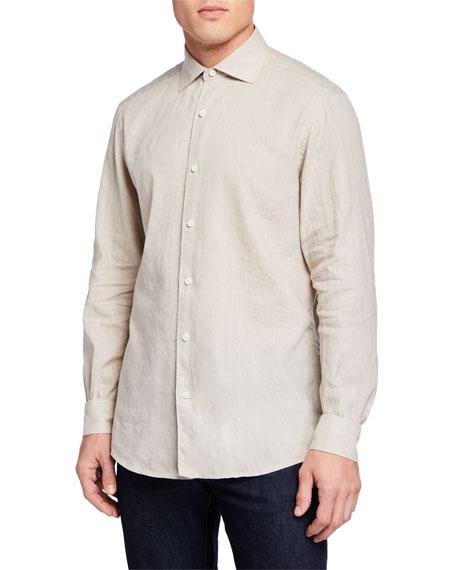 Ermenegildo Zegna Men's Long-Sleeve Linen/Cotton Sport Shirt