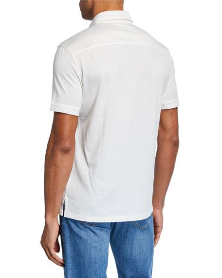 Men's Leggerissimo Cotton Polo Shirt, White