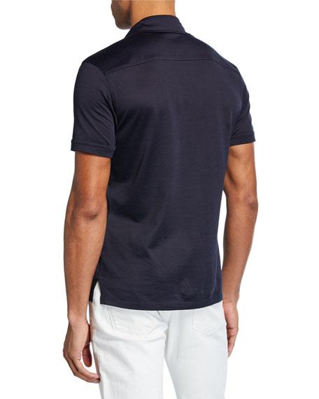 Men's Leggerissimo Cotton Polo Shirt, Navy