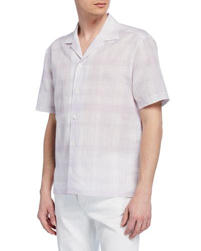 Men's Plaid Short-Sleeve Sport Shirt