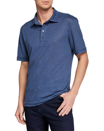 Men's Linen Polo Shirt