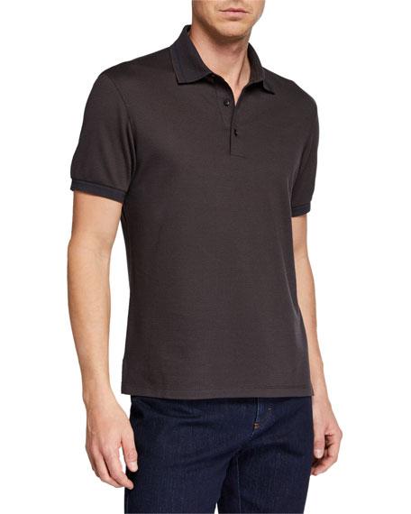 Ermenegildo Zegna Men's Silk-Blend Polo Shirt