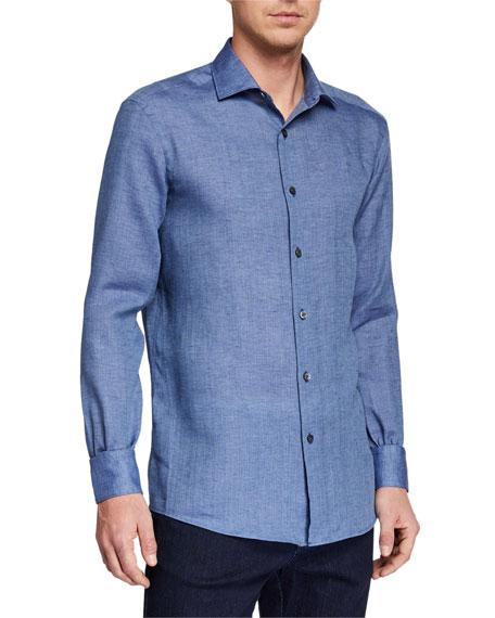 Ermenegildo Zegna Men's Linen Sport Shirt
