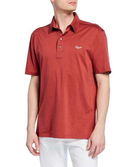 Ermenegildo Zegna T-shirts MEN'S MERCERIZED COTTON POLO SHIRT