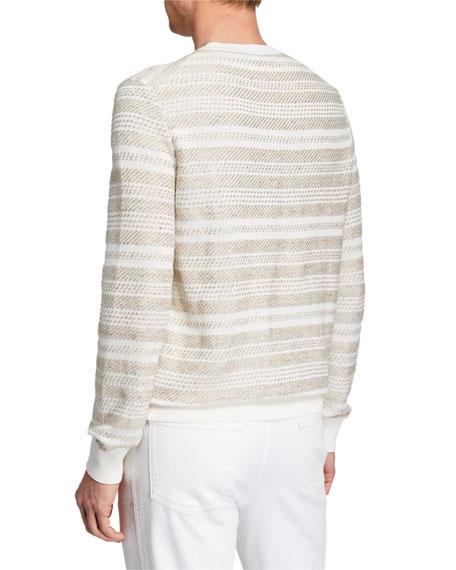 Men's Striato Striped Crewneck Sweater