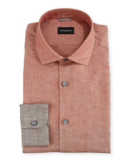 Ermenegildo Zegna Men's Degrade Linen/Cotton Sport Shirt