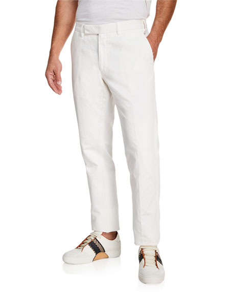 Ermenegildo Zegna Men's Casual Cotton/Linen Trousers
