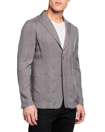 Men's Cupro Washed Sport Coat