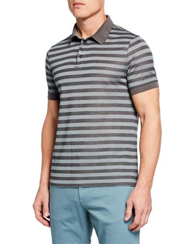 Men's Macquard Pattern Polo Shirt