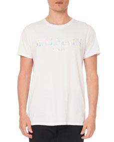 Men's Holographic Logo T Shirt by Balmain