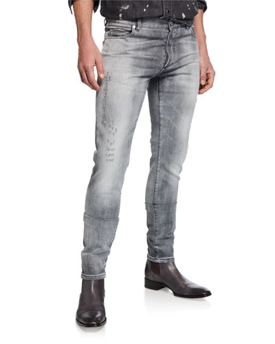 Men's Vintage-Wash Slim Jeans
