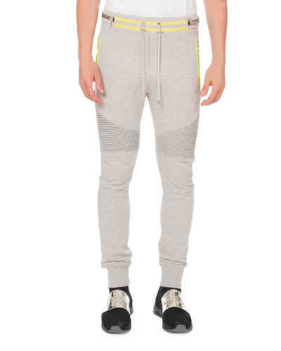 Men's Rib-Panel Sweatpants