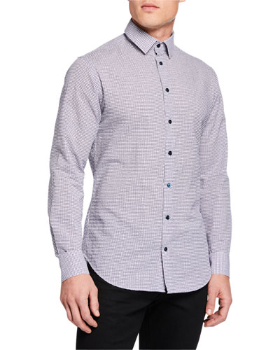 Men's Micro-Graph Cotton Sport Shirt