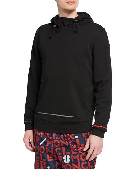 Moncler Men's Geometric-Trim Pullover Hoodie