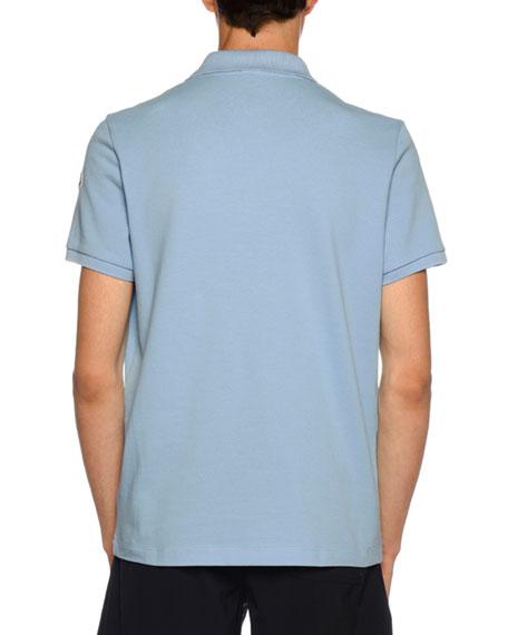 Men's Polo Shirt with Striped Undercollar
