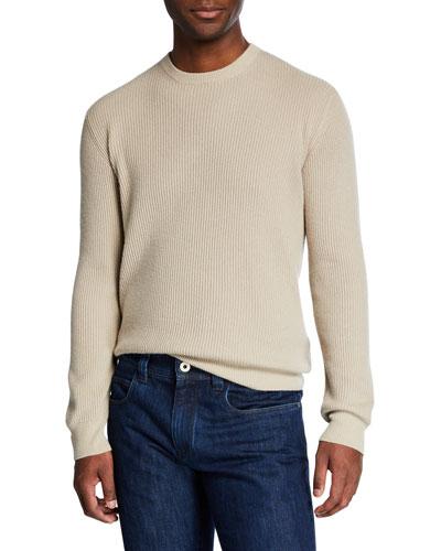Men's Girocollo Cash York Ribbed Sweater
