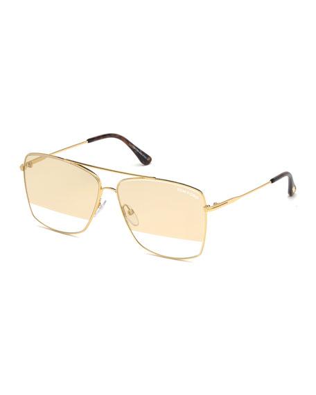 Tom Ford Sunglasses MEN'S MAGNUS GOLDEN METAL SUNGLASSES