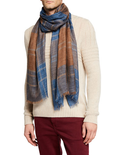 Men's Westray Plaid Scarf