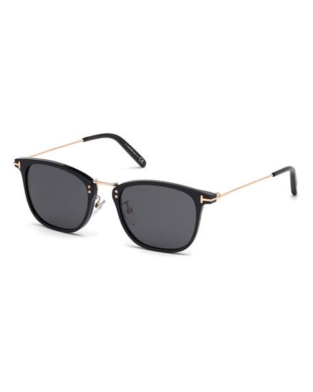 Tom Ford Sunglasses MEN'S BEAU METAL AND PLASTIC SUNGLASSES