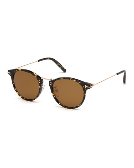 Tom Ford Sunglasses MEN'S JAMIESON METAL AND PLASTIC SUNGLASSES