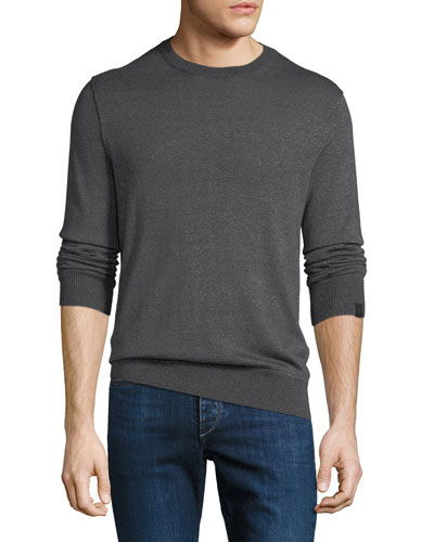 Men's Davis Merino/Linen Crewneck Sweater