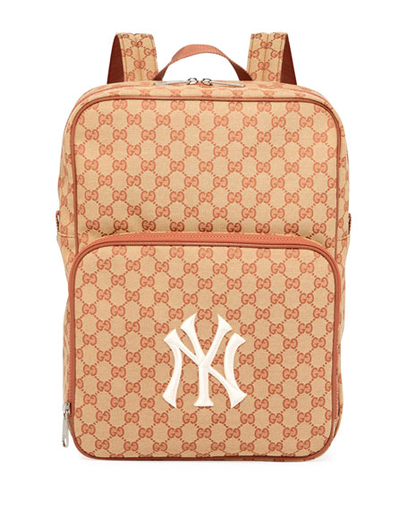 Men's GG Supreme Backpack with NY Yankees MLB Applique
