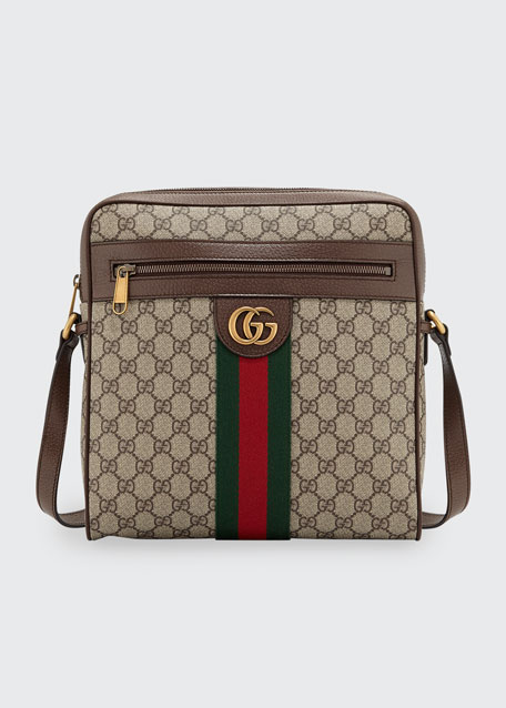 f36ed5bf81f6 Gucci Men s GG Supreme Medium Messenger Bag