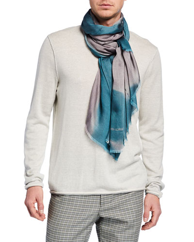 Men's Printed Twill Scarf