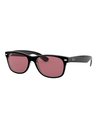Men's New Wayfarer Propionate Mirrored Polarized Sunglasses