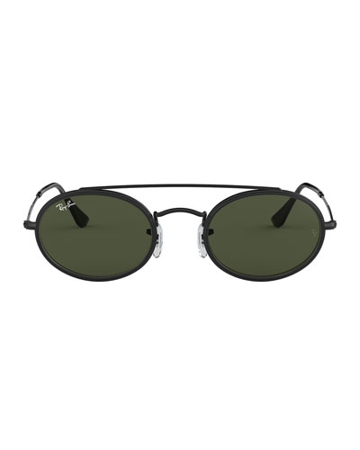 Men's RB3847 Oval Double-Bridge Sunglasses