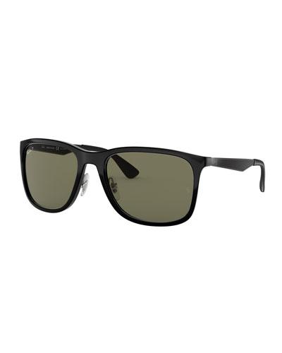 Men's Square Polarized Propionate Sunglasses