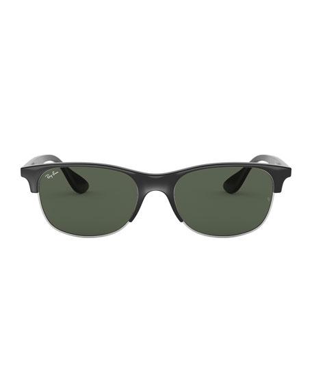 Men's Half-Rim Propionate Sunglasses