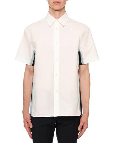 Men's Side Stripe Short-Sleeve Sport Shirt