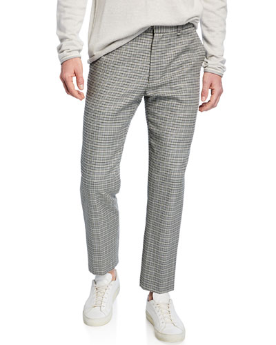 Men's Patrick Plaid Wool/Cotton Pants
