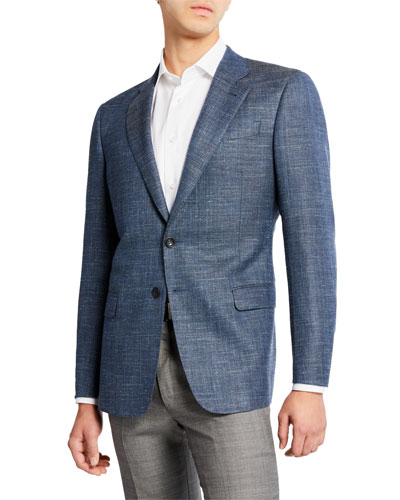 Men's Melange Wool/Linen Sport Coat