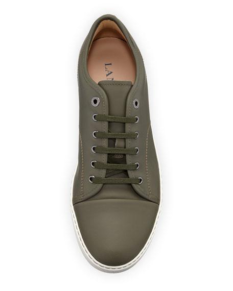 Cap-Toe Napa Leather Low-Top Sneakers