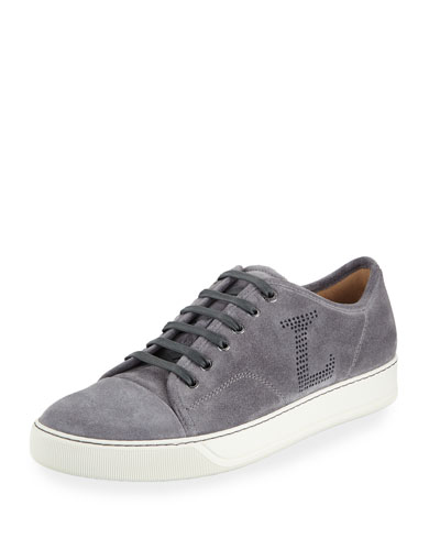 Men's Perforated L Suede Low-Top Sneakers