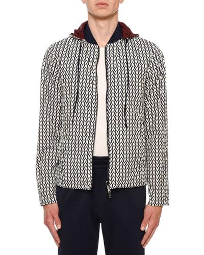Men's Reversible Hooded Wind-Resistant Jacket