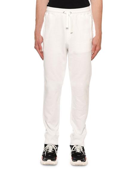Valentino Cottons MEN'S ROCKSTUD-TRIM JERSEY SWEATPANTS