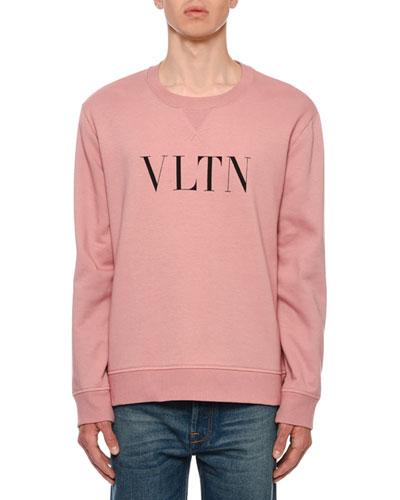Men's VLTN Logo Typographic Sweatshirt