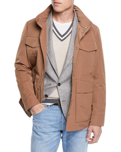 Men's Vespa Moto Long Jacket