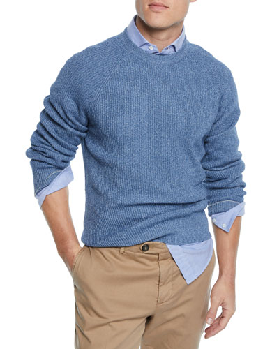 Men's Ribbed Donegal Sweater